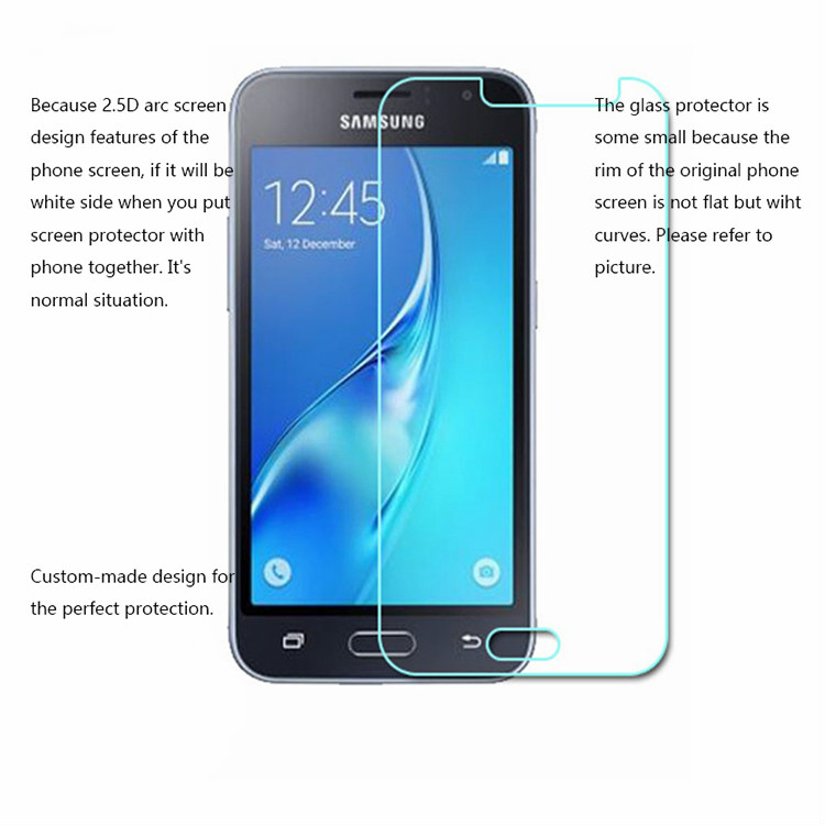 Image 2 - 2.5D Tempered Glass For Samsung Galaxy J1 J120F 2016 SM J120F Protective Film Mobile Phone for Samsung J 120F 2016 J120F J120-in Phone Screen Protectors from Cellphones & Telecommunications