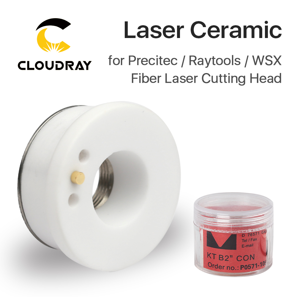 Diamante ceramico Cloudray Laser. 28 Portaugello 32 mm Portaugello con taglio laser in fibra