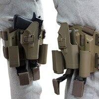 Tactical Combat Pistol Glock Gun Holster CQC Thigh For Glock 17 19 22 23 31 32 Hunting Accessories tan color RL31 0005PTan
