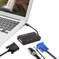 4in1 Mini DP Displayport Thunderbolt To DVI HDMI VGA Audio Adapter Display Port Link Training