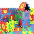 Niosung Современный 36 Шт. Детские Ребенка Номер Алфавит Головоломки Пены Математика Обучающие Игрушки Подарок