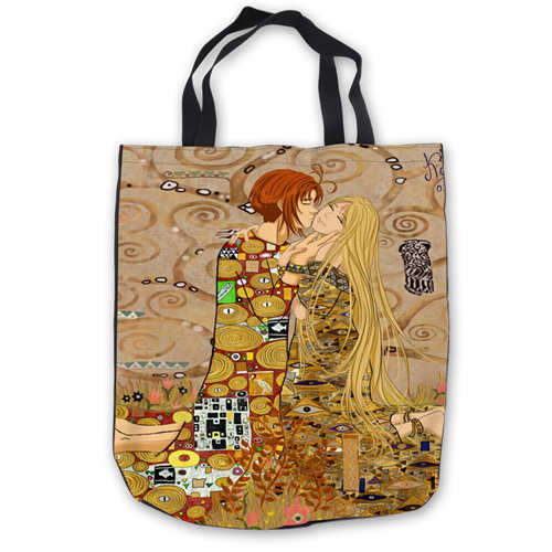 Image 5 - Custom Canvas Gustav_Klimt_ (1) Tote Hand Bags Shopping Bag Casual Beach HandBags  Foldable 180911 02 15Top-Handle Bags   -