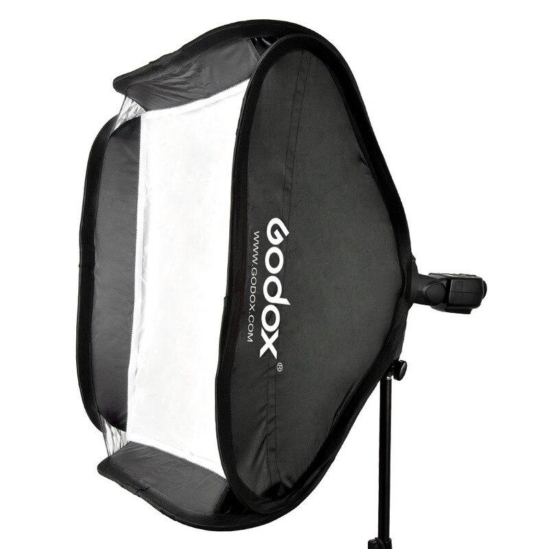 Kit de Softbox Flash réglable Godox 40x40 cm avec support de Type S support de montage Bowen pour appareil Photo Studio