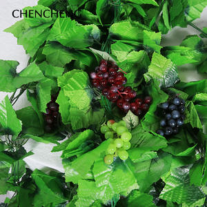 CHENCHENG 10 Pieces Green Artificial Leaf Garden Decoration