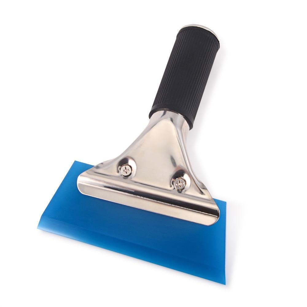 Pro Squeegee Blue Max Rubber Anti-Slip Grip Window Tint Film Water Scraper Tools