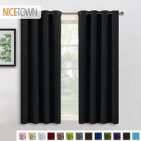 1 Panel Fabric Blackout Eyelet Grommet Curtain Drapery for Window Blinds Living Room Children Bedroom Cortina Para Sala De Estar