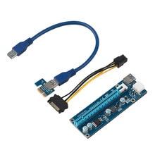 60 см Супер стабильной PCI-E PCI E Экспресс 1х до 16х видеокарта Riser Extender Адаптер VER006 Для Bitcoin Шахтера БТД машина