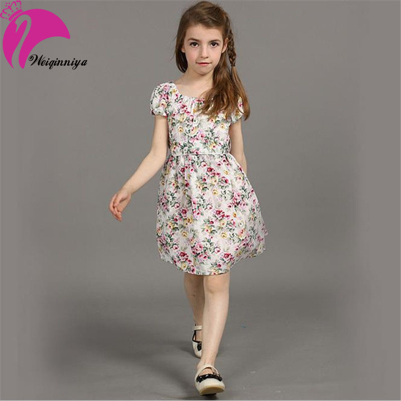2d38d2e3b8b5 Hot Sale 2019 New Summer European Style Girl Dress Baby Girls Print Flowers  Floral Dresses Cotton Vestido Infantil Kids Clothes-in Dresses from Mother  ...