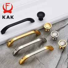 KAK Zinc Alloy Modern Black Cabinet Handles Gold Kitchen Handles Cupboard Door Pulls Drawer Knobs Furniture Handle Hardware kak fashion black hidden cabinet handles aluminum alloy kitchen cupboard pulls drawer knobs furniture room door handle hardware