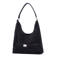 LISCN Winter Suede Bags For Women 2018 Lady Handbags Top handle Bags Female Shoulder Bags Retro Tassel Crossbody Bag New Hot