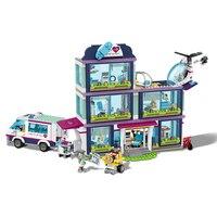 Lele 37036 932 Pcs City Heartlake Hospital Building Blocks Set Friends Bricks Toys for Children Girls Compatible 41318