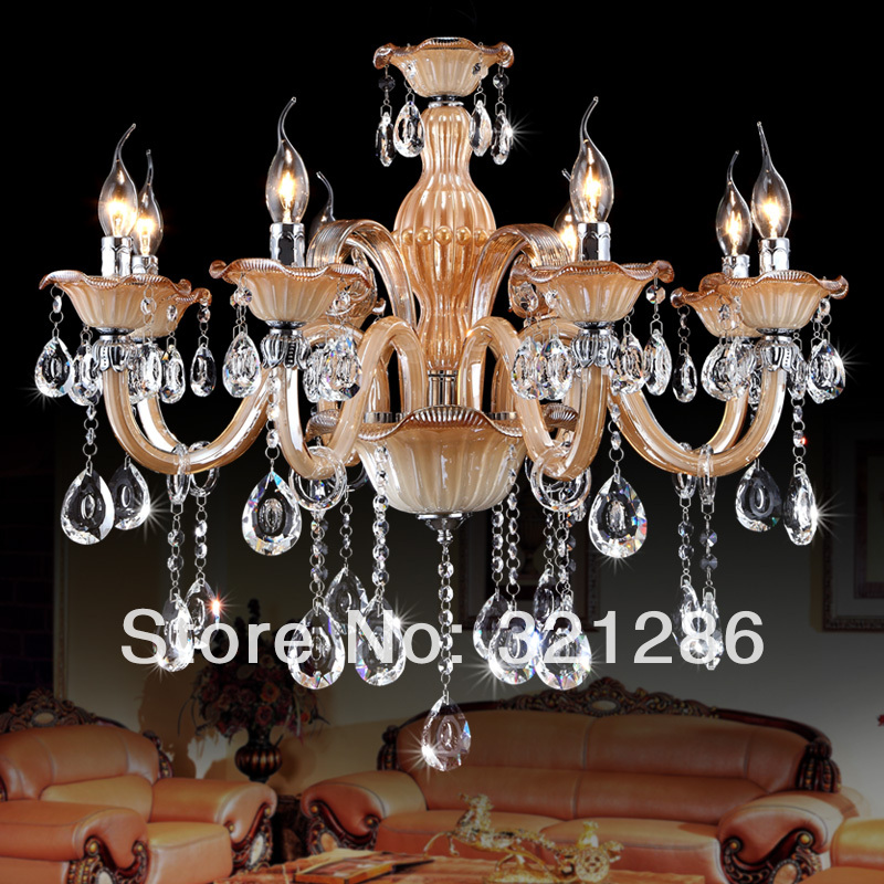 6 heads Luxury crystal chandelier light fashion bedroom lamp candle ctystal lighting lobby chandelier black crystal chandelier light modern black chandelier lighting bedroom dining room living lobby lamp lighting candle bulb