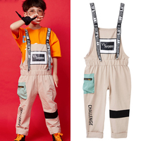 Children Hip Hop Clothing Kids Street Dance Pant Handsome Rompers For Children Boys Dance Clothes Children Stage Costume BL1542