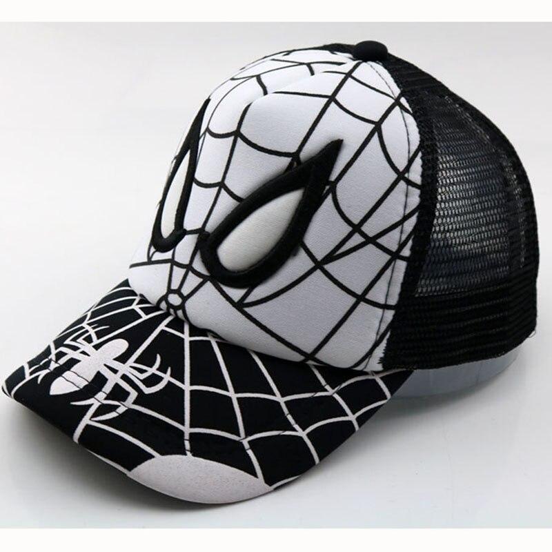 2018 New Cartoon Child Baseball Cap Spiderman Super Hero Casual Kids Sun Hat Mesh Cap Snapback Children Caps Boys Hats & Caps