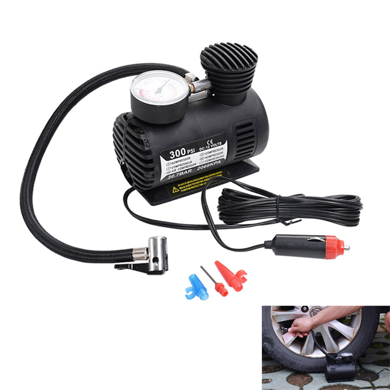 300 PSI Mini Air Compressor 12V Car Auto Portable Pump Tire Inflator W/gauge New BX