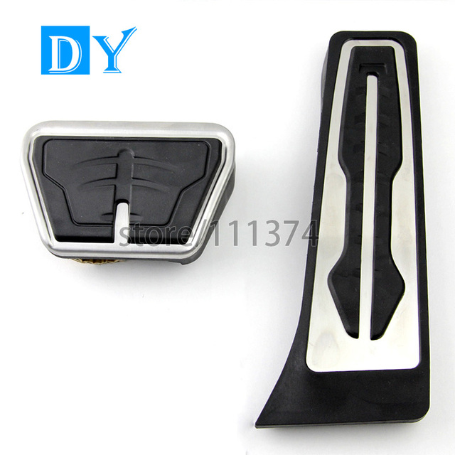 2016 New Stainless Steel Car Gas Fuel Brake Pedals Plate For BMW All Series pedal X1 x3 x5 x6 f20 f30 E39 E60 Z4 E70 E71 E90 E46