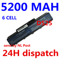 5200mah laptop battery for acer  EMACHINES E525 E627 E725 D525 D725 G620 G627 G725 E627-5019   AS09A31 AS09A41 AS09A51