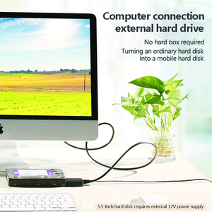 """Image 5 - USB 3.0 SATA كابل ل 2.5 """"و 3.5"""" الخارجية SSD HDD القرص الصلب محول مع سلك الطاقة (الولايات المتحدة التوصيل)"""