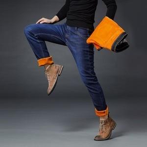 Image 3 - AIRGRACIAS 2019 Winter Nieuwe Mannen Warme Jeans Beroemde Merk Dikke Jeans Zachte Dikker Fleece Mannen Jeans Zwart/blauw Lange broek 28 40
