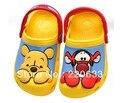 Бесплатная доставка продажи 3D мультфильм винни тигра пляж сандалии тапочки дети размер мальчик в девочке : 6C7-12C13 весна лето