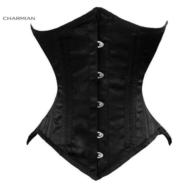 Charmian Women's 26 Double Steel Boned Underbust Corset Elegant Bridal Corset Waist Trainer Cincher
