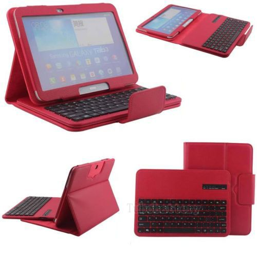 Colorful Free Shipping Wireless Bluetooth Wireless Keyboard Case For Samsung Galaxy Tab 3 10.1 P5200 P5210 P5220 oxlasers cool virtual wireless bluetooth projection laser keyboard with mouse function and bluetooth speaker free shipping