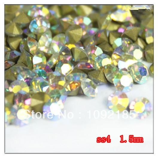 Ss4 14400 peças 100 Gross Point voltar Rhinestone cristal AB cor Point voltar Chaton frete grátis