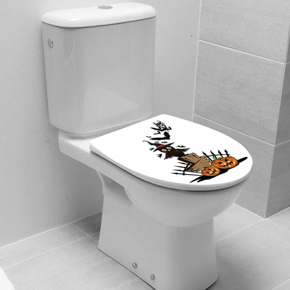 Halloween Toilet Seat Wall Sticker Adornment Removable Vinyl Wallpaper Window Living Room Home Halloween Decoration
