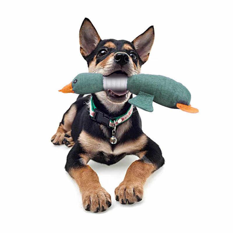 かわいい雁恐竜ペット犬の子犬がおもちゃきしむぬいぐるみベルベット音のおもちゃ