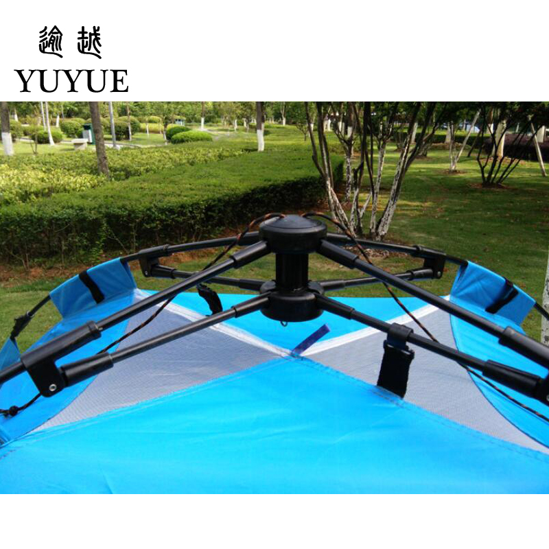 3-4 person cheap tent camping for cleary day hiking outdoor camping tente camping randonnee automatic tent  for family outings 1