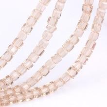 цены на OlingArt Square 3/4/6/8MM Austria Crystal Beads charm Glass Beads Champagne gold color Loose Spacer Bead for DIY Jewelry Making в интернет-магазинах