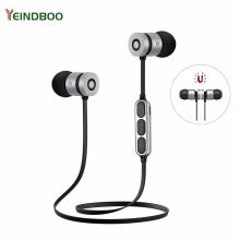 лучшая цена YEINDBOO Bluetooth Earphones Wireless Sport Headphones Running Headset Active Noise Cancelling Super Bass Sweatproof With Mic