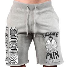 Mens gym cotton shorts Run jogging sports font b Fitness b font bodybuilding Sweatpants male workout