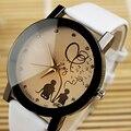 Reloj de Las Mujeres 2016 de Cuarzo reloj de Señoras Reloj de Cuarzo de Cuero de Lujo de Dibujos Animados Reloj de Pulsera relogio feminino Reloj Mujer montre femme