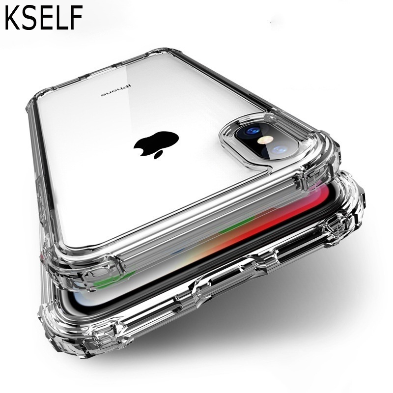 Luxury Shockproof Bumper Transparent Silicone Phone Case For iPhone X XS XR XS Max 5S 8