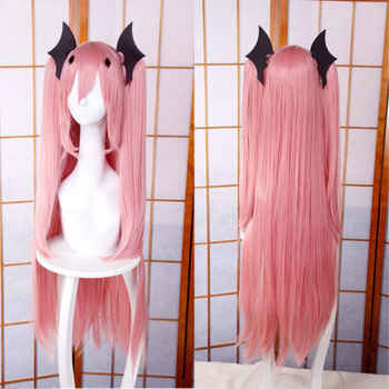 High Quality 100CM Krul Tepes Wigs Owari no Seraph Of The End Pink Clip Ponytails Cosplay Wig + Wig Cap + Black Hair Accessories - DISCOUNT ITEM  0% OFF All Category