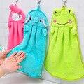 Coloridos dulces de colores de dibujos animados bebé towel super suave de coral polar niño niño towel limpie el sudor hung wash towel entrega
