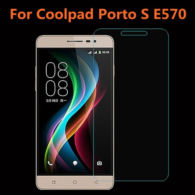 Coolpad Porto S 0.26mm Explosion-proof Tempered Glass For E570 5.0 inch 2.5D Arc Edge Premium Screen Anti Shatter Protector Film