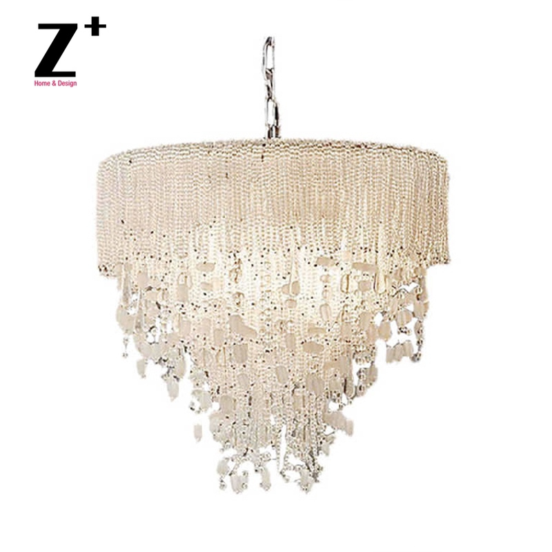 Genevieve K9 Crystal Beads Frosted Beads Cascade Of  Water Chandelier