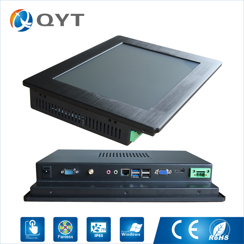China Made 3855U 500G HDD 4GB DDR4 RAM Wince and Linux System Lcd Mounted Touch Screen Industrial Panel Pc