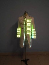 Independent design LED costume colorful lights windbreaker clothes show service