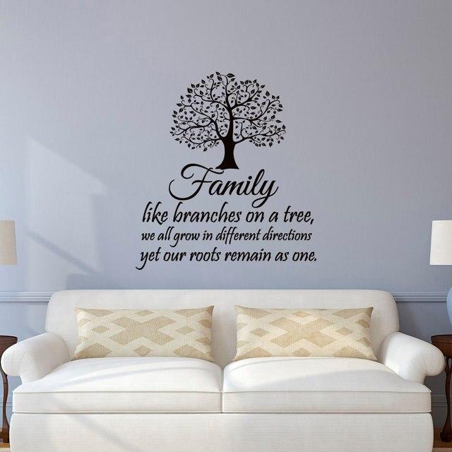 Sticker Mural Famille Citations Famille Comme Des Branches Sur Un