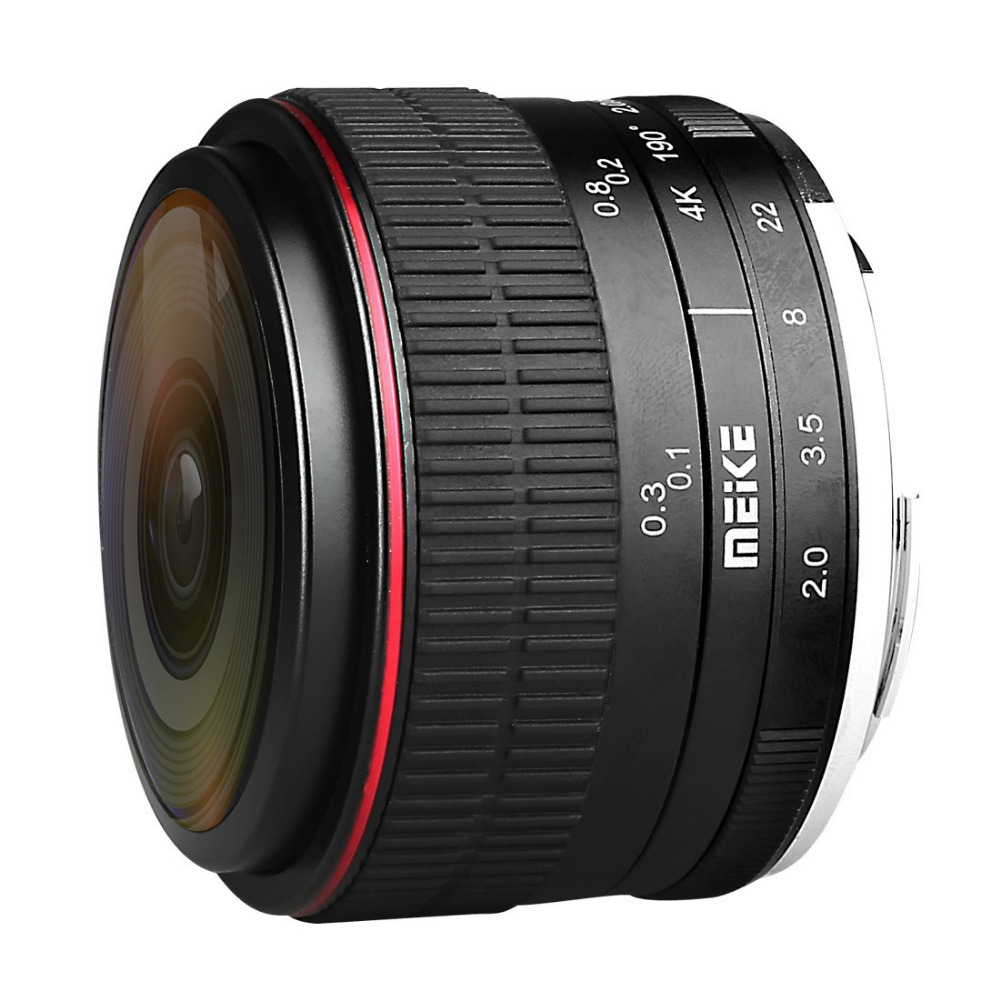 MEIKE MK-6.5mm F2.0 Fisheye Lens Fixed Focus Lens EF-M Mount Lense Large Aperture Auto Focus Lens For Canon DSLR Camera 5