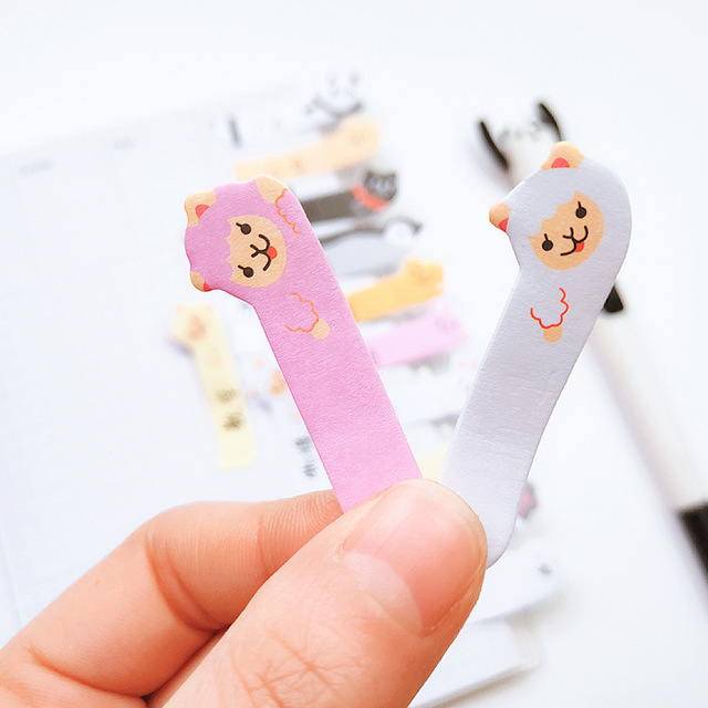 Kawaii Memo Pad Bookmarks Creative Cute Cat Panda Sticky Notes index Posted It Planner Stationery School Supplies Paper Stickers 2