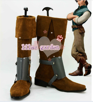 Free shipping Tangled Flynn Rider Cosplay shoes Rapunzel Prince Cosplay Boots Custom-made