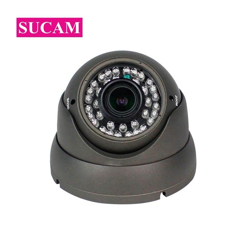SUCAM POE 5MP IP Dome Camera Home Security 2.8-12mm Varifocal Lens Indoor H.265 Video Surveillance Network Camera ONVIF P2P 5mp hd ip camera low stream h 265 network surveillance system cctv 3 6mm lens support onvif poe