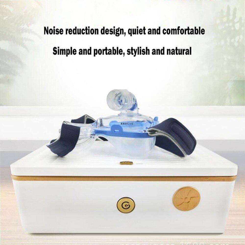 Boîte de stérilisation Portable pour masque respiratoire CPAP multifonction Q5 UV + boîte de désinfection à l'ozone Q5 boîte de stérilisation UV