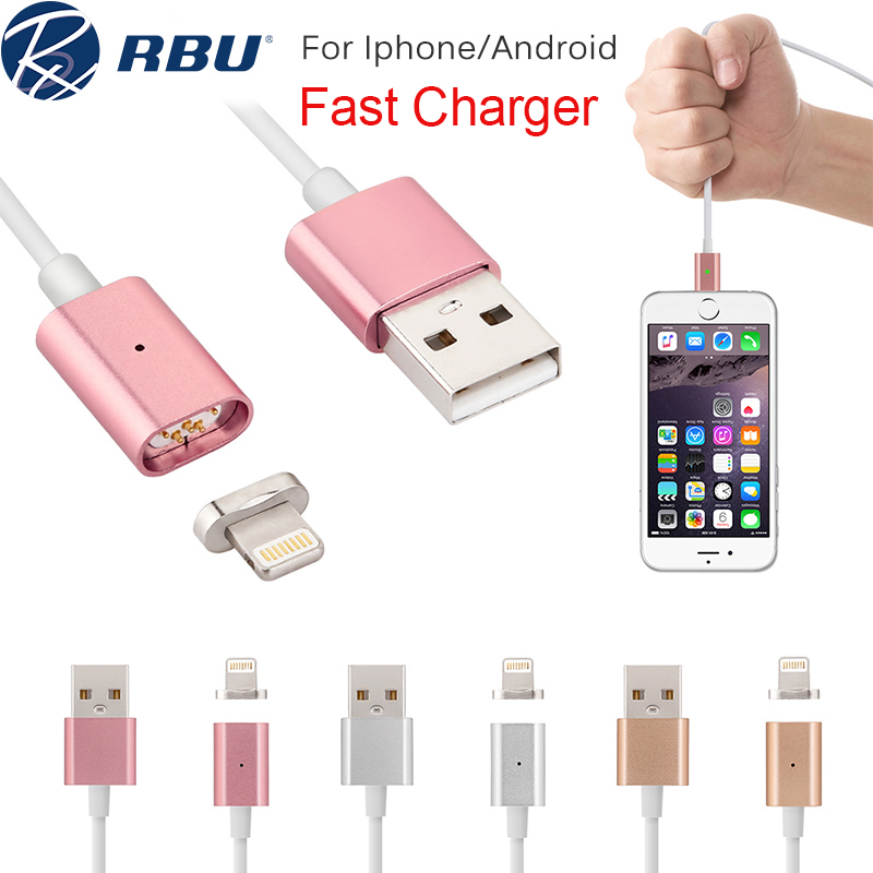 2.4A Fast Micro USB Metal Lightning Magnetic Charger Cable Magnet Nylon/PVC Power Adapter Data Cables For Samsung Android iPhone