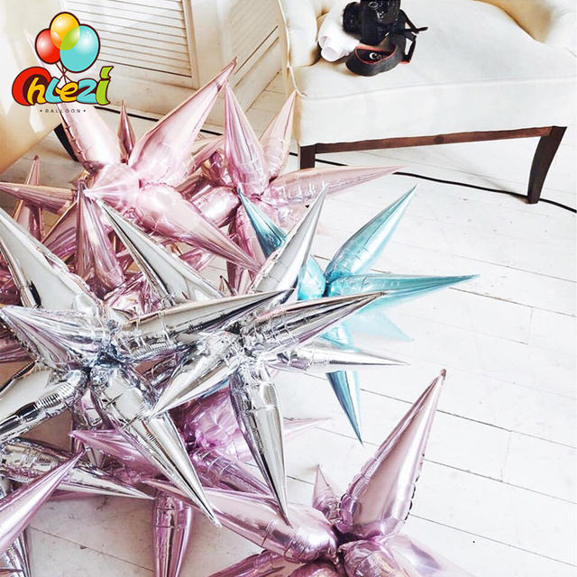 12pcs Explosion star balloons Birthday party opening ceremony Wedding decoration Water drop cone Foil balloons Party Supplies
