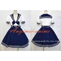 Navy Uniform Dress Lolita School Girl Cotton Dress Cosplay Costume Tailor made